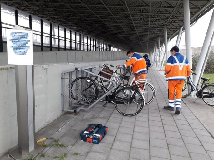 NMBS start met afbraak oude fietsenstalling aan station Noorderkempen