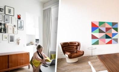 Overal kunst aan de muren, gespreid over vier verdiepingen: binnenkijken in de woning van Sofie Van de Velde