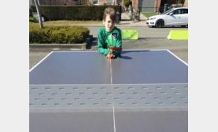 Naast nieuw speelplein nu ook pingpongtafel in open lucht, hinkelspel volgt