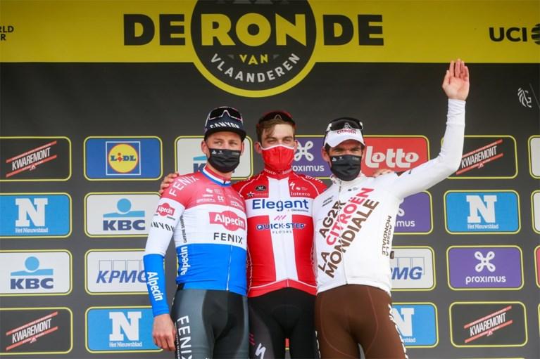 """Mathieu van der Poel en Greg Van Avermaet kunnen zich neerleggen bij ereplaatsen: """"Geen fout gemaakt, Asgreen was sterker"""""""