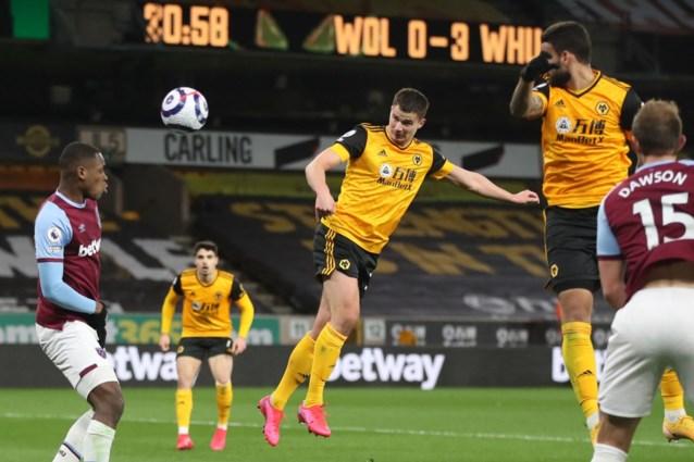 Leander Dendoncker scoort eerste goal van het seizoen, maar leidt met Wolverhampton wel thuisnederlaag tegen West Ham