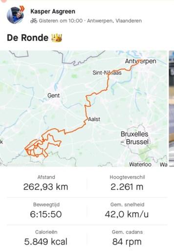 De steile piek en dip van Van der Poel tegen de machtsexplosie van Asgreen: de cijfers achter de sprint in de Ronde van Vlaanderen