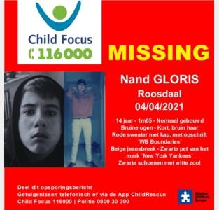 Nand (14) uit Roosdaal sinds zondag vermist