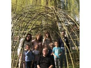 Natuurpunt bouwt wilgenhut voor kinderopvang