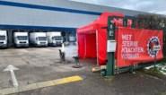 Werknemers Lambrechts Genk blokkeren uitgang