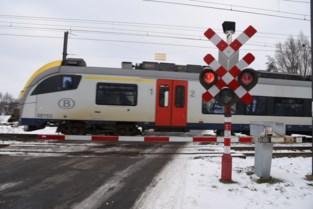 Overwegen afgesloten voor werken aan spoor, perrons in station Buggenhout worden verhoogd<BR />