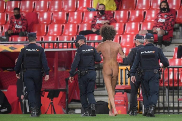Opschudding in de Europa League: geen publiek maar wel streaker tijdens Granada-Manchester United