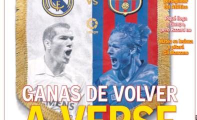 """De covers van de Spaanse kranten voor Real - Barcelona: """"Een beslissende clasico"""""""