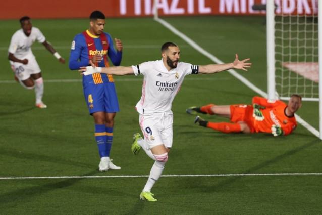 Real Madrid wint spannende Clasico en doet weer helemaal mee voor de titel, FC Barcelona komt in het slot net tekort