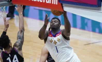 Zion Williamson leidt New Orleans met straffe cijfers naar zege tegen Philadelphia