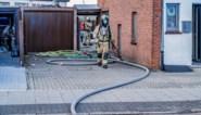 Bewoner blust brand in veranda samen met buren in Paal