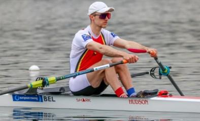 Niels Van Zandweghe finisht tweede in de B-finale op EK roeien