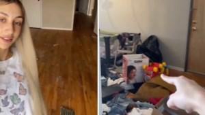 """Vrouw zegt dat huisbaas woning heeft leeggehaald terwijl ze op reis was: """"Urne met as van vader lag in de vuilnisbak"""""""