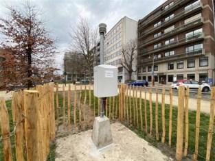 Nieuw meetstation registreert temperatuur op Leopoldplein