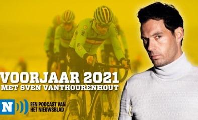 """PODCAST. Sven Vanthourenhout: """"Mauri Vansevenant droeg op stage oude koersschoenen van zijn pa gevuld met watten. Maar hij reed met de besten naar boven"""""""