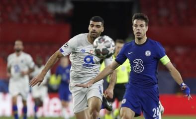 Chelsea staat ondanks verlies tegen Porto voor het eerst in zeven jaar weer in de halve finale van de Champions League