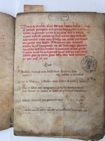 Historisch document van bijna 600 jaar oud gevonden in Poesele