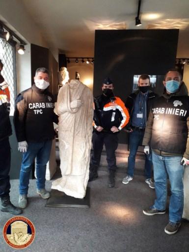 Eeuwenoud standbeeld dat 10 jaar geleden werd gestolen in Rome teruggevonden bij Brusselse antiquair