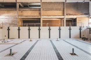 Zwembad krijgt stilaan vorm: vijfentwintigmeterbad -en vijftigmeterbad betegeld