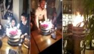 """Verjaardagstaart vat vuur aan tafel: """"Dacht dat mijn haar zou verbranden"""""""