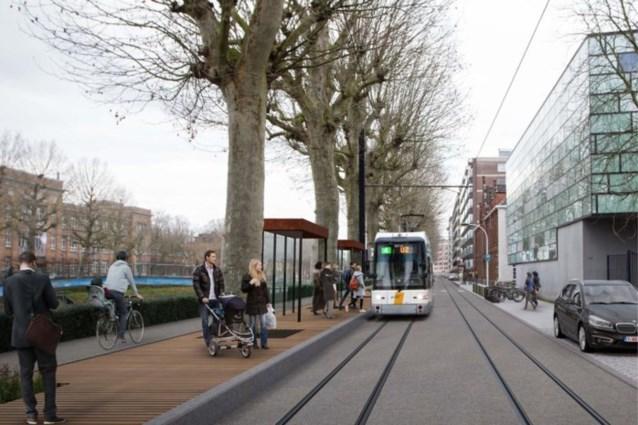 Werken beginnen aan Coupure Rechts: tramhaltes deel van de dag buiten gebruik