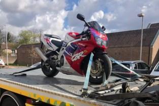 Politie neemt motorfiets in beslag na levensgevaarlijke achtervolging