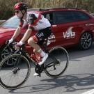 Marc Hirschi in actie tijdens de Ronde van Catalonië voor zijn nieuwe ploeg UAE Team Emirates.