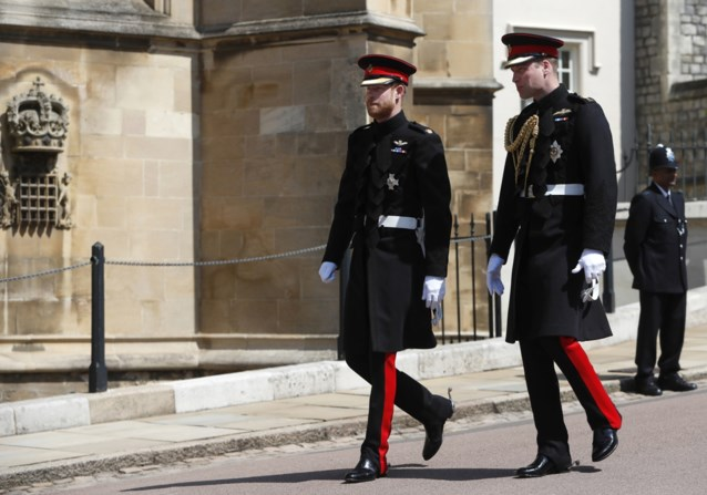 Prinsen William en Harry zullen niet naast elkaar lopen bij begrafenis van prins Philip