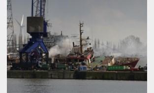Brand op vissersschip in Gentse haven na meer dan twee dagen geblust