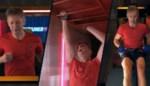 Helmut Lotti zingt een toepasselijk lied bij elke discipline in 'De container cup'