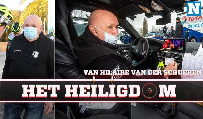 """Binnenkijken in de volgwagen van Hilaire Van der Schueren (Intermarché-Wanty-Gobert): """"Hier ben ik Hilario"""""""