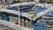 Real Madrid laat zien hoe gevaarte van 800 ton en 144 meter langs vernieuwd stadion wordt geplaatst (wat zes uur (!) duurde)