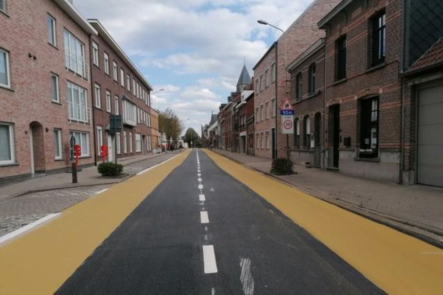 Nieuwe wegmarkeringen in centrum Kessel