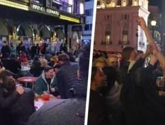 Feestvierende Britten veroorzaken chaos tijdens eerste weekend na heropening horeca: overvolle terrassen en dansende mensen