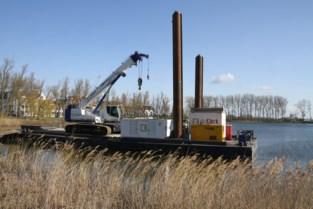 Nieuwe kabelbaan voor watersport stapje dichterbij, duikers installeren steunpalen