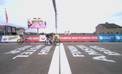 Met het blote oog onmogelijk te zien: zo klein was het verschil tussen Wout van Aert en Tom Pidcock in de Amstel Gold Race