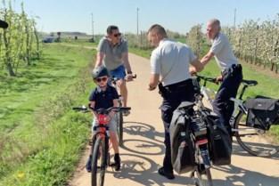 Fietsroutenetwerk in Sint-Truiden strikt gecontroleerd door de fietsende politie