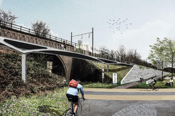 Veilig fietsen en wandelen langs spoor tussen Vilvoords station en Haren: vier kilometer lange fietssnelweg moet klaar zijn in 2025