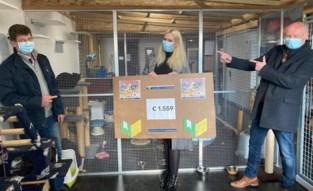 Weerbaar Geraardsbergen schenkt 1.559 euro aan kattenopvang