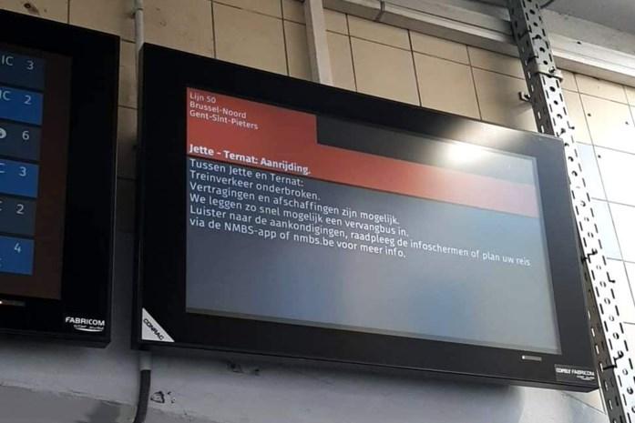 Uren geen treinen door persoonsongeval