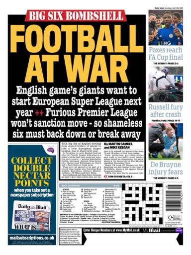 """""""Oorlog"""" om Super League is overal voorpaginanieuws: """"De strijd der rijken"""""""
