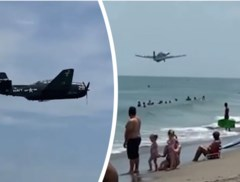 Ongerustheid na mislukte luchtshow: vliegtuig dreigt noodlanding te maken op groep badgasten