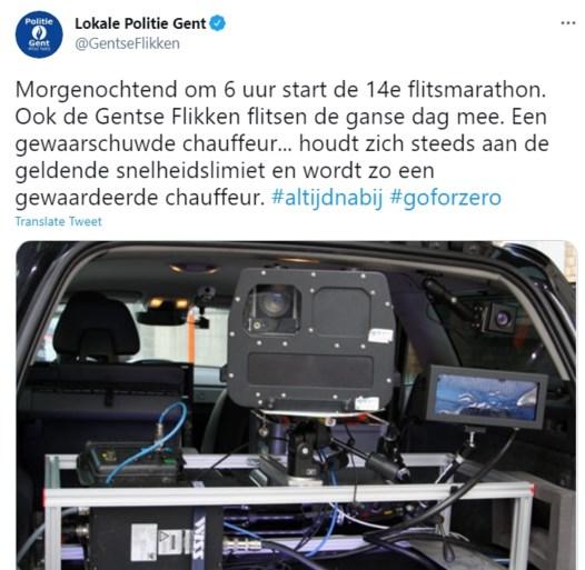 U bent gewaarschuwd: Gentse politie houdt woensdag een hele dag flitscontroles
