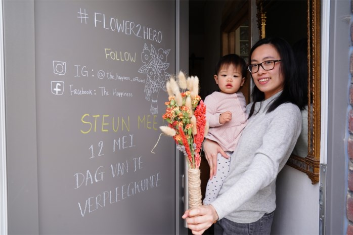 Sin Yee (29) wil zorgmedewerkers in de bloemetjes zetten, en heeft daarvoor uw hulp nodig