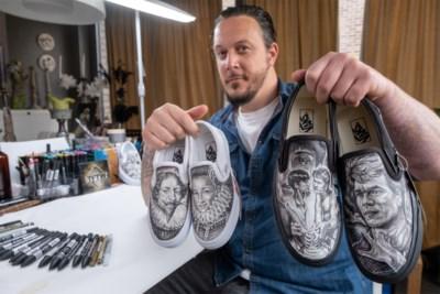 Zelfs Snoop Dogg is fan van deze Vlaming: tattooartiest Jadran Beauprez schildert indrukwekkende portretten op sneakers
