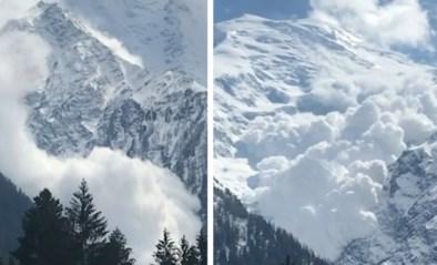 """Zeldzame lawine op Mont Blanc verrast klimmers: """"We hoorden plots een oorverdovend gekraak"""""""