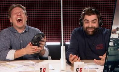 Wesley lacht Pedro uit tijdens roeiproef Thierry Neuville, die een record breekt in De Container Cup