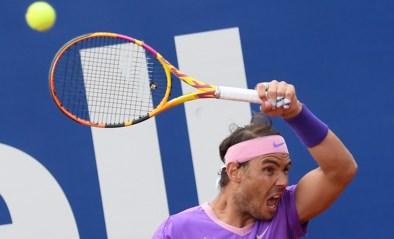 Rafael Nadal niet zonder slag of stoot, maar wel met erg knap punt voorbij Ilya Ivashka op zijn eigen 'pista'