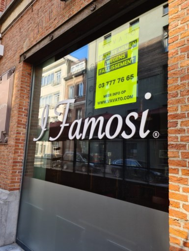 Bekend Italiaans restaurant I Famosi op Antwerpse Zuid failliet