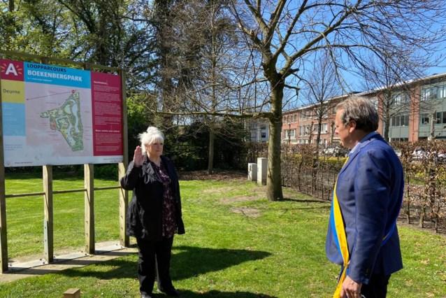 Viviane Gedopt legt eed af als raadslid in Boekenbergpark